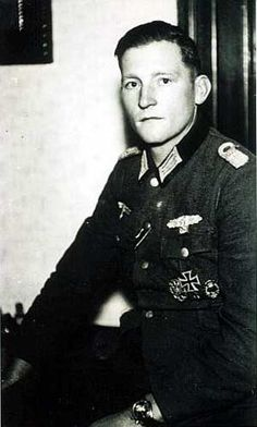 Hauptmann Erich Röseke, Brandenburg Regiment, before gaining his Knight's Cross. He also won the Iron Cross 1st and 2nd class, German Cross in Gold, Wound Badge in Gold, Close Combat Clasp in Silver, General Assault Badge, Guerrilla Warfare Badge, Ostvolk-Decoration 1st Class, two Tank Destruction badges, and the Pioneer Coxswain's Badge. He was  wounded eight times during the war.