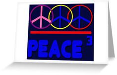 Peace Trio Cubed  by PharrisArt  Celebrate peace with this product.  #Postcards and #GreetingCards ... what an attractive way to stay in touch and pass on #messages.