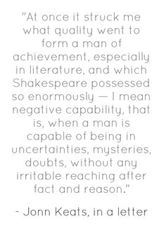 John Keats, in a letter to George and Thomas Keats.