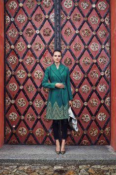 #Stitched #Jali #Coat #Anthropologie
