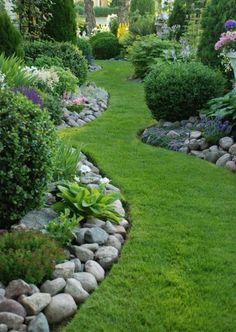 allées de jardin, une allée verte