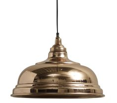copper bell hanging lamp by bell & blue | notonthehighstreet.com