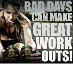 Bad days can make great workouts!  Come get your fitness on at Fitness Together in Novi, MI!  Get personal one-on-one-training, a nutrition guideline, and other services that will change your life for the better!  Call (248) 348-9230 or visit our website www.fitnesstogether.com/novi for more information!