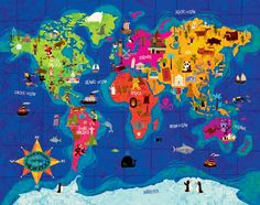 mapa mundi niños