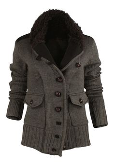 i so want this! who wants to get it for me? theres no link but something along the lines of this would be nice Passion For Fashion, Love Fashion, Fashion Outfits, Womens Fashion, Blazers, Cute Jackets, Chic, Autumn Winter Fashion, Sweater Jacket