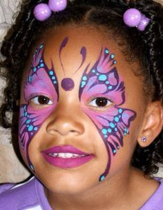 facepainting kids face painting ideas for kid facepaint ideas child Face Painting Tips, Girl Face Painting, Belly Painting, Face Painting Designs, Painting For Kids, Face Paintings, Butterfly Face Paint, Purple Butterfly, Face Paint Makeup