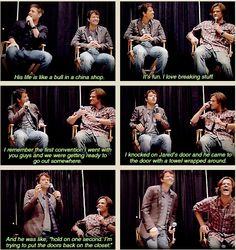 Jensen  Ackles  as  Dean  Winchester  and  Jared  Padalecki  as  Sam  Winchester  and  Misha  Collins  as  Cas  on  Supernatural