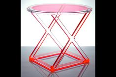 XOXO Acrylic Occasional Table Red