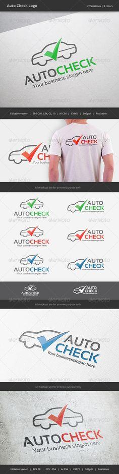 Auto Check Car  - Logo Design Template Vector #logotype Download it here: http://graphicriver.net/item/auto-check-car-logo/7278572?s_rank=20?ref=nexion