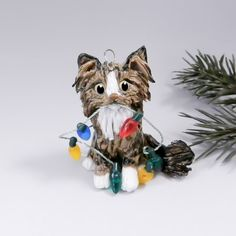 brown tabby maine coon cat christmas ornament by themagicsleigh 2400 white tabby cat tabby - Cat Christmas Decorations