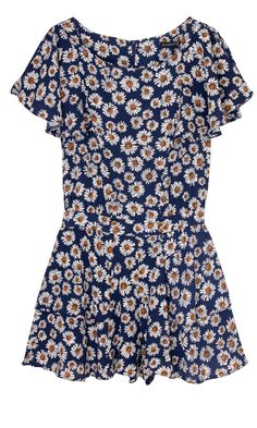 Primark Daisy Print Playsuit Primark Outfit 152257a43