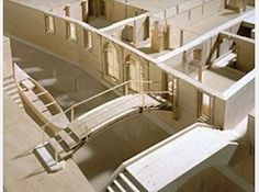 """George Ranalli, Architect exhibition model for """"Carlo Scarpa, Architect: Intervening with History"""" May 26 to October CCA, Montréal, Main Galleries. Carlo Scarpa, Exhibition Models, Christo And Jeanne Claude, Community Space, Arch Model, 3d Architecture, October 31, Galleries, History"""