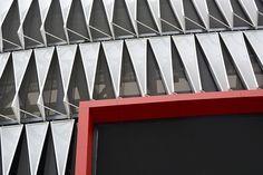 San Mamés Stadium Bilbao Architects: ACXT-IDOM Cesar Azcarate Features: Lacquered Galvanized Steel New San Mamés Stadium #metaldeploye #Chapaperforada #chapaestampada #metalperforado #fachadaventilada #metalexpandido #chapamicroperforada #malladeploye #fachadasmetalicas San Mamés, Metal Facade, Bilbao, Facades, Home, Block Prints, Metal Fabrication, Perforated Metal, Piercing