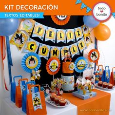 Goku Birthday, Dbz, Getting Organized, Dragon Ball Z, Birthday Party Themes, Free Printables, Decoupage, Baby Shower, Candy