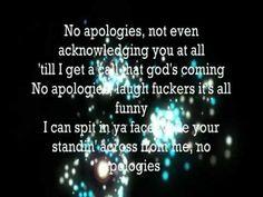 Eminem  No Apologies...ONE of my favorites ♡ #youfuckersarenotready