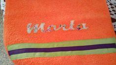 toalla con aplicación