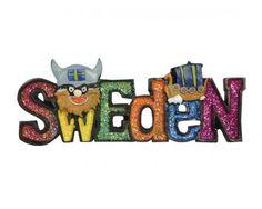 Ola Nesje Sweden Glitter Viking Magnet 39018