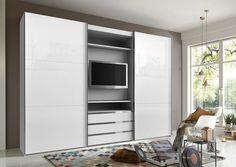 Fresh To Go Schwebetürenschrank Master Bedroom Layout, Bedroom Closet Design, Bedroom Furniture Design, Bedroom Wardrobe, Bedroom Layouts, Small Room Bedroom, Closet Designs, White Bedroom, Bedroom Storage