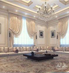 MARGOS PORTAL...BUY ALL HERE LIVING ROOM ATTIRES... Interior Design Living Room, Living Room Designs, Living Room Decor, Home Room Design, House Design, Arabic Decor, Luxury Homes Interior, House Rooms, Luxury Living