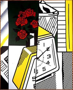 Roy Lichtenstein; Still Life with Clock and Roses, 1975.