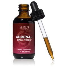Adrenal Daily Tonic - All Natural Support Remedy for Adrenal Fatigue - Calm Botanicals Holistic Remedies, Natural Home Remedies, Herbal Remedies, Natural Healing, Health Remedies, Insomnia Remedies, Sleep Remedies, Banana Cinnamon Tea, Natural Sleeping Pills
