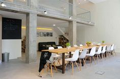 Escuela de Cocina diseñada por Laboratorio de Arquitectura. Calle Plomo 8. Madrid.