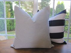 Pillow Decorative Throw Pillow Cover Blue by CottageHomeCouture, $38.00