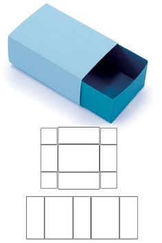 Schubladen Box / Streichholzschachteln Bastel Anleitung Blitsy: Template Dies- Matchbox - Lifestyle Template Dies - Sales Ending Mar 05 - Paper - Save up to 70% on craft supplies!