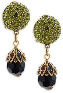 Heidi Daus Crystal Pave Drop Earrings