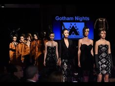 """Designer Andres Aquino presented his latest collection entitled """"Gotham Nights"""" at Couture Fashion Week New York. Gotham, Couture Fashion, Night, Concert, Fashion Design, Collection, High Class Fashion, Recital, Concerts"""