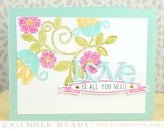 Love is All You Need Card by Nichole Heady for Papertrey Ink (December 2013)