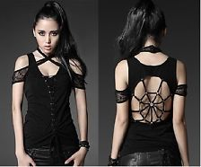 NEW Punk Rave Gothic Rock T-shirt Top Blouse T-306 ALL STOCK IN AUSTRALIA!