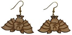 Cute bat earrings with 1 inch wooden beads- gold plated EP Laser http://www.amazon.com/dp/B00FEPLZNC/ref=cm_sw_r_pi_dp_iT-5vb0NA1C64