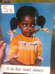 S is for soul sister. — Alphabet cards used in Chicago public schools in the I'm going to look into this Black Power, Ufc, Jean Julien, Berlin, Pose, Soul Sisters, My Black Is Beautiful, Black Girls Rock, African American History