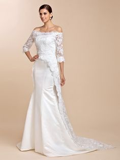 Amazing Half-Sleeve Lace Evening/Wedding Jacket/Wrap(More Colors) - GBP £36.49