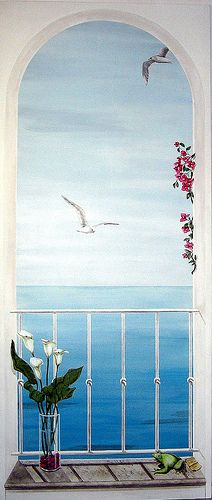 1000 images about trompe l oeil on pinterest murals wall murals and - Stickers trompe oeil mural ...