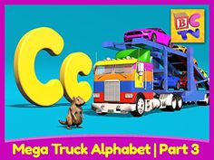 Mega Truck Alphabet Part 3  Learn About the Letter C -- Find out more about the great product at the image link.Note:It is affiliate link to Amazon.