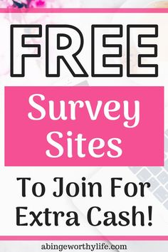 Online survey websites that you can join for free to earn extra cash online! Cash From Home, Online Work From Home, Earn Money From Home, Work From Home Moms, Earn More Money, Make Money Fast, Make Money Blogging, Make Money Online, Money Tips