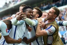 Sturridge was mobbed by his England team-mates having come off the bench for the second half to find the back of the net