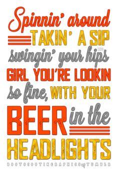 Luke Bryan ~ Beer In The Headlights
