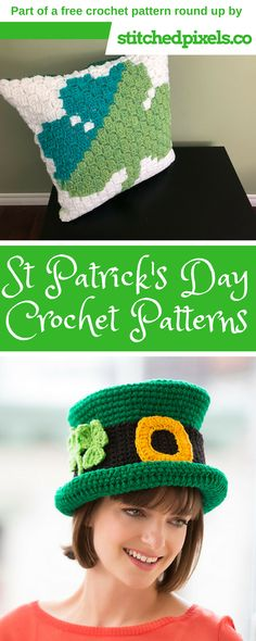 Get ready for the fun and festivities this St. Patrick's Day. I have rounded up a handful of green, rainbow and gold free crochet patterns for you to try out.I think the wreath is at the top of my list, since my front door needs a little decorating, and I should make a hat or two to wear to work. Just click on the photo, or the link underneath to be brought to the pattern website!