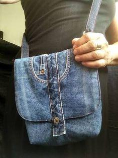 Resultado de imagem para bolso denim reciclado