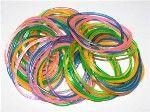 glitter jelly bracelets