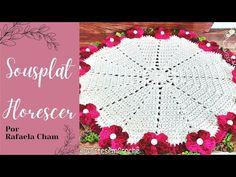 Crochet Squares, Crochet Doilies, Laddu Gopal, Crochet Slippers, Crochet Home, Napkins Set, Soft Furnishings, Free Pattern, Floral