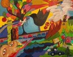 """Saatchi Online Artist sandy mann; Painting, """"invasion"""" #art"""
