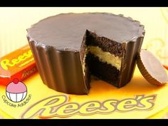 My cupcake addiction giant Reese's cake. My mouth is already watering.