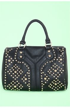 Y Front All Over Studded Satchel