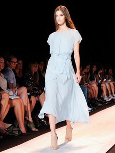 Light weight blue gown // BCBGMAXAZRIA S/S 15 runway