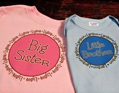 big sister/ little brother shirt & onesie