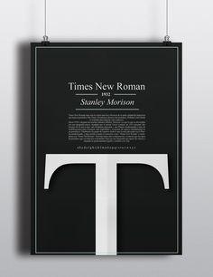 "查看此 @Behance 项目:""Times New Roman poster""https://www.behance.net/gallery/35027805/Times-New-Roman-poster"